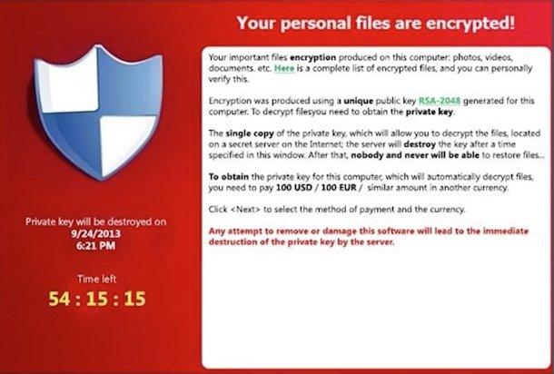 Rimuovere Gratuitamente il virus CryptoLocker