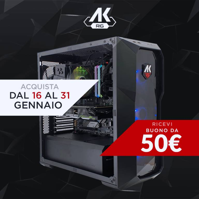 Welcome 2020! I PC gaming di AK Informatica scontati fino a fine mese